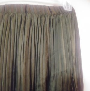 Olive Green Coldwater Creek Skirt